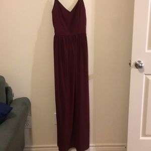 TOBI full length maroon formal dress